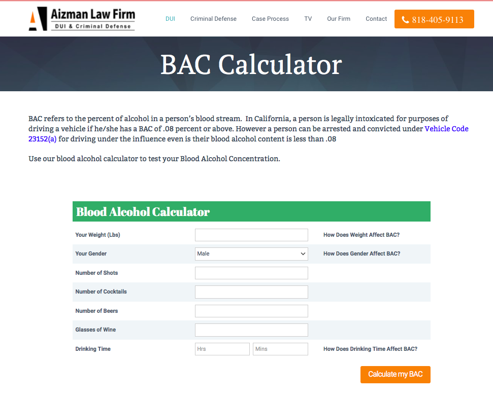 BAC-Calculator