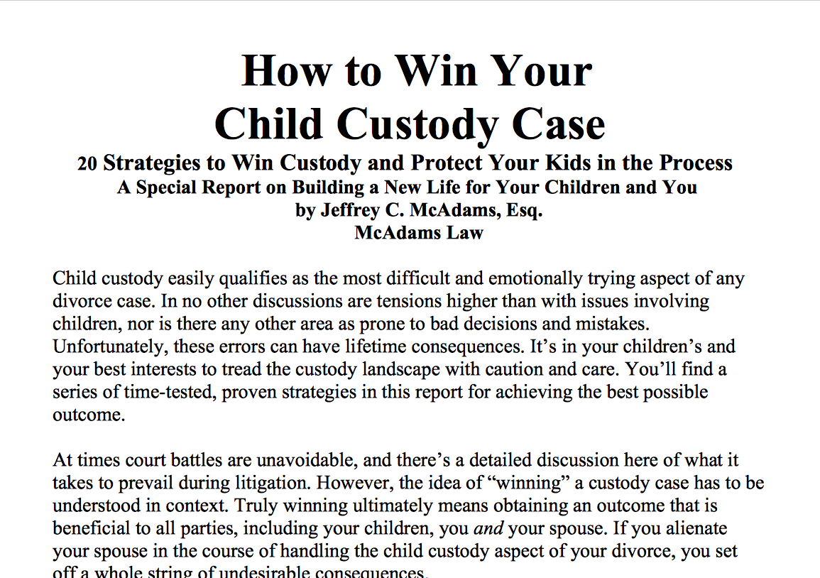 How-To-Win-Your-Child-Custody-Case